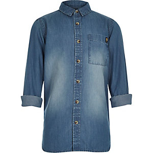 Boys blue denim shirt