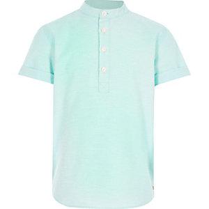 Boys turquoise overhead shirt