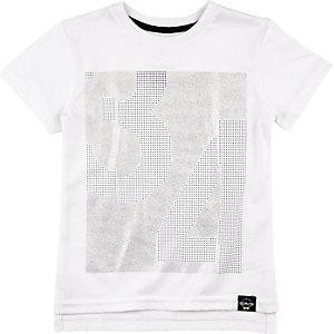 Mini boys stud print longer length t-shirt