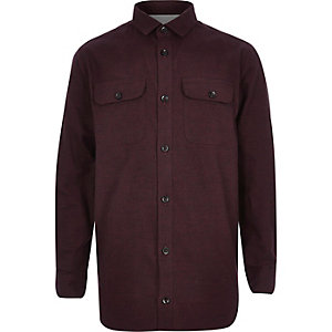 Boys dark red two pocket shirt
