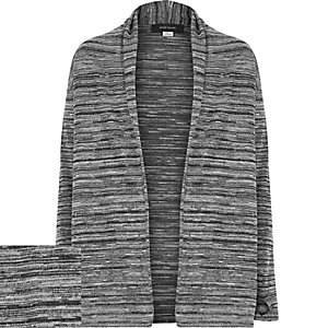 Boys grey marl waterfall cardigan