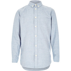 Boys blue melange shirt