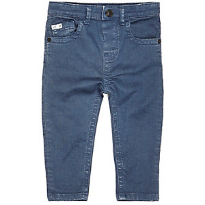 Mini boys blue denim skinny jeans