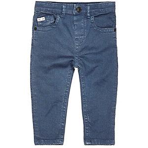 Mini boys blue denim skinny jeans
