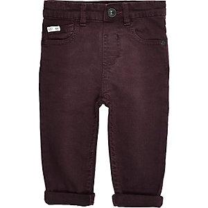 Mini boys red denim jeans