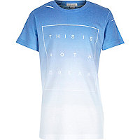 Boys blue faded dream print t-shirt