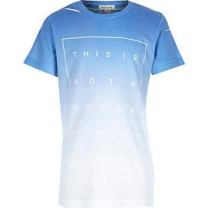 Boys blue faded dream print t-shirt