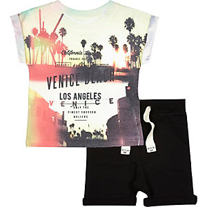 Mini boys Venice t-shirt shorts outfit