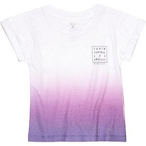 Mini boys purple fade t-shirt