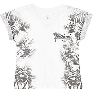 Mini boys Hawaiian print t-shirt
