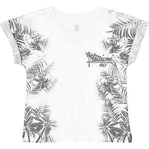Mini boys Hawaiian print t-shirt