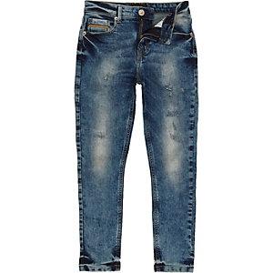 Boys mid wash Sid skinny stretch jeans