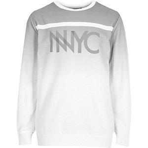Boys grey NYC fade sweatshirt