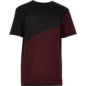 Boys red spliced t-shirt
