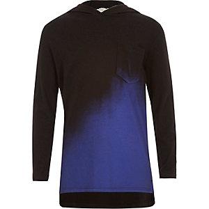 Boys blue faded hoodie