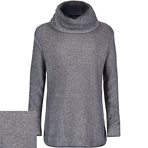 Boys blue cowl neck sweater