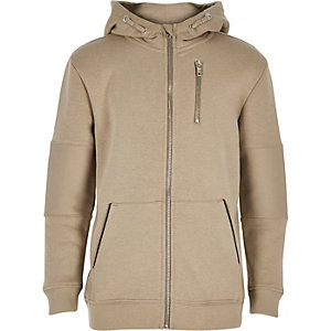 Boys stone hooded jacket