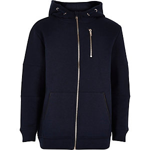 Boys navy hooded jacket