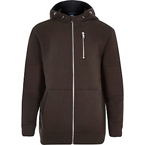 Boys brown hooded jacket