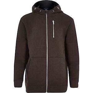 Boys brown hooded jacket
