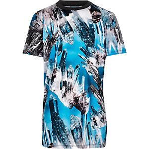 Boys blue print t-shirt