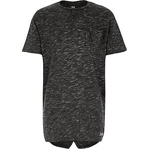 Boys grey marl split back t-shirt