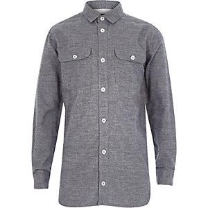 Boys navy blue two pocket shirt