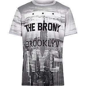 Boys grey Brooklyn city t-shirt