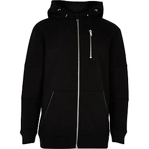 Boys black hooded jacket