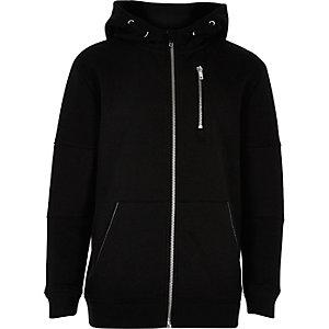 Boys black hooded jacket