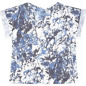 Mini boys blue paint splash t-shirt