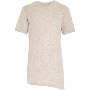 Boys ecru asymmetric t-shirt
