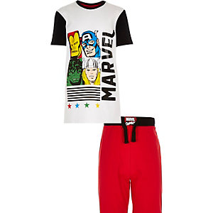 Boys red Marvel pyjama set