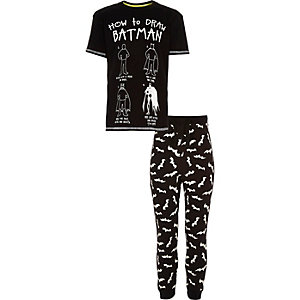 Boys black Batman pyjama set