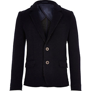 Boys navy blue structured blazer