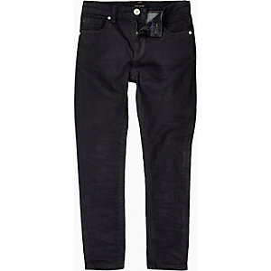 Boys dark coated Sid skinny stretch jeans
