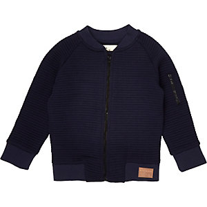 Mini boys ribbed bomber jacket