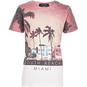 Boys white South Beach Miami t-shirt