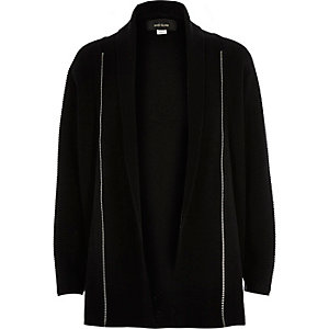 Boys zip front cardigan