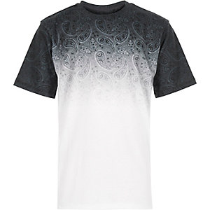 Boys green faded paisley t-shirt