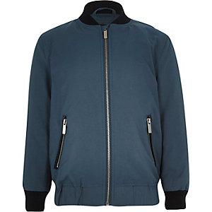 Boys blue casual bomber jacket