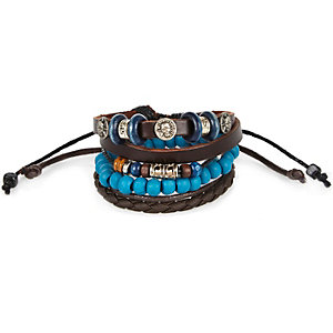 Boys brown bracelets pack