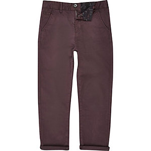 Boys dark red chino pants
