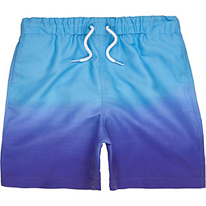 Boys blue dip dye swim shorts