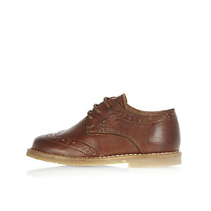 Mini boys brown brogues shoes
