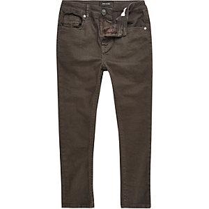 Boys brown skinny jeans