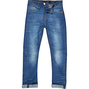 Boys bright blue Chester tapered jeans