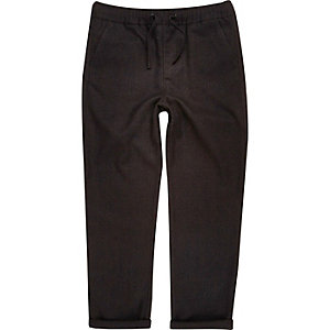 Boys black houndstooth joggers