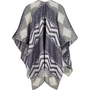 Kids blue check cape
