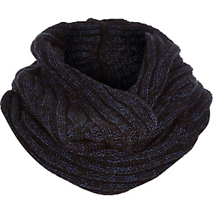 Boys dark blue ribbed snood